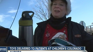 Toys delivered to patients at Children's Colorado - Video