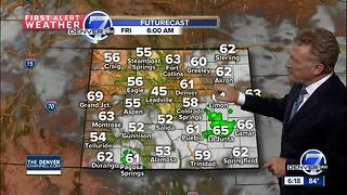 Scattered thunderstorms - mainly south of Denver - Video