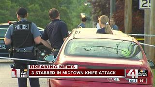 Police investigate triple stabbing in Midtown