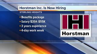 Workers Wanted: Horstman Inc. is hiring