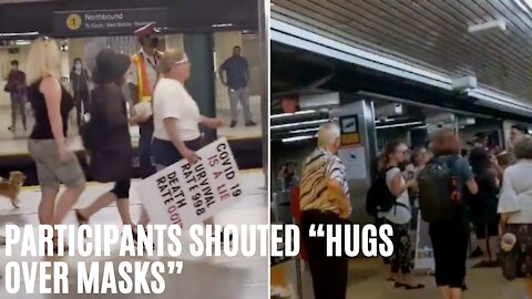 Loud Anti-Mask Protesters Took Over The TTC On Tuesday Morning