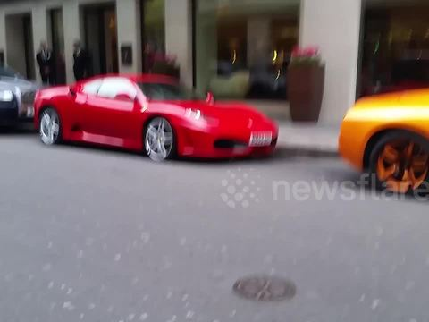Supercars Lined Up Outside The Mayfair Hotel In London Rumble