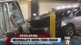Crash through McDonald's Drive thru - Video