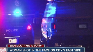 Woman in critical condition after being shot in the face while driving - Video