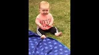Baby Finds joy in the Simplest Thing - Video