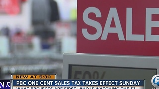 PBC one cent sales tax takes effect Sunday - Video
