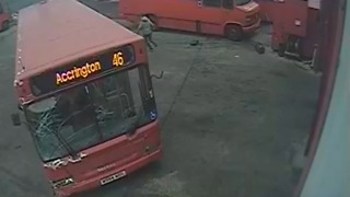 Youths Break Into Coach Depot and Crash Vehicles - Video