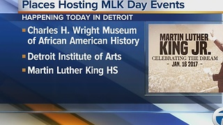 Places around metro Detroit hosting MLK Day events - Video