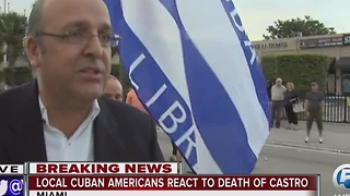 South Florida Cubans react to the death of Fidel Castro - Video
