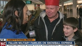 Tulsa families of fallen soldiers get a free holiday vacation from American Airlines - Video