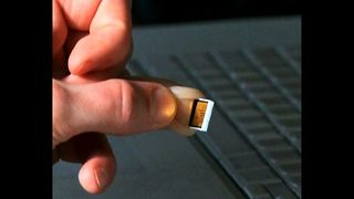 Man's Finger Is A Hard Drive - Video