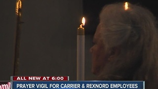 Prayer vigil held Sunday for Carrier and Rexnord workers