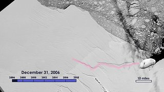 NASA Satellite and Research Aircraft Captures Growth of Larsen C Crack - Video