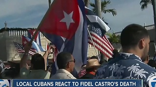 Local Cuban-Americans react to Fidel Castro's death - Video