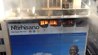 Fire Tears Through Gauteng Premier's Office - Video