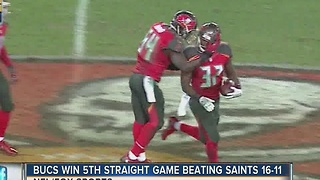 Bucs win 5th straight game beating Saints 16-11 - Video