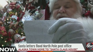 Santa letters flood North Pole post office - Video