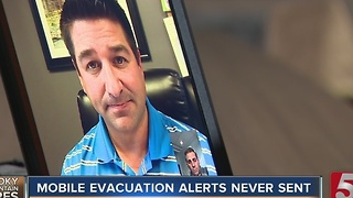 Evacuation Alerts Were Never Sent To Cell Phones - Video