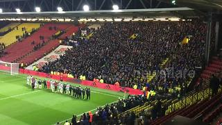 Huddersfield's players celebrate with their fans - Video