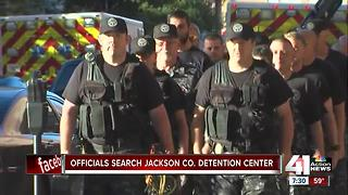 Law enforcement agencies search Jackson County Jail - Video
