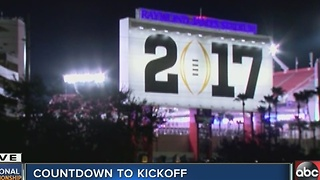 Countdown to kickoff at the National Championship in Tampa - Video