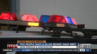 2 people shot behind swap meet - Video
