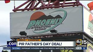 Surprise dad with fun at Phoenix International Raceway - Video