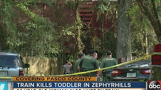 5:00 p.m. Two-year-old boy and woman hit by train in Zephyrhills