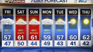 Rain expected in the Valley, snow up north overnight Thursday into Friday - Video