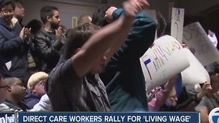 Developmental disability community rallies for more pay for direct care workers - Video