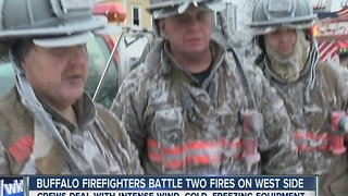 Buffalo firefighters battle two blazes, hours apart - Video