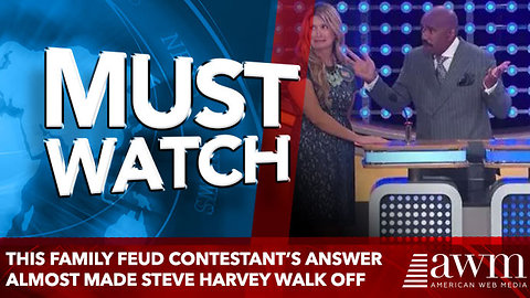 This Family Feud contestant's answer almost made Steve Harvey walk off
