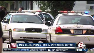 Man killed in double shooting on Indy's west side - Video