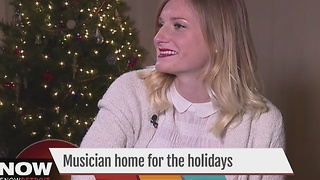 Local musician home for the holidays - Video
