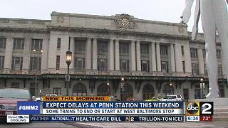 Weekend track work means delays at Penn Station - Video