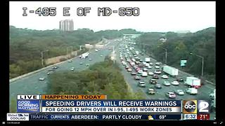 Warning period starts for speed cameras on I-95 & I-495 - Video