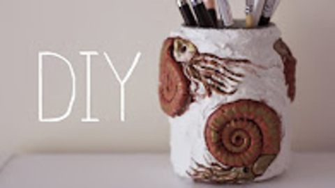 DIY: Ammonite Jar