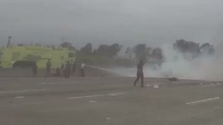 Cessna Misses Runway, Crashes on 405 Freeway in Santa Ana - Video