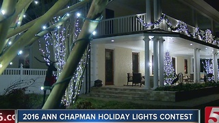 Ann Chapman Holiday Lights Contest Finalist 1: The Richardson Home