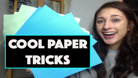 3 crazy things you can do with paper