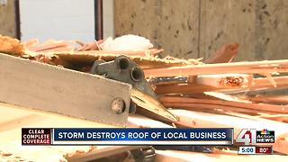 Communities clean up after strong storms hit KC metro area Saturday night - Video
