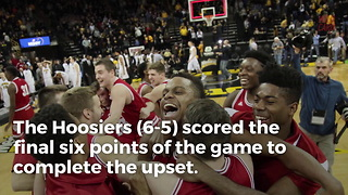Indiana Upsets No. 18 Notre Dame On Missed Free Throw - Video