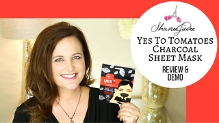 Yes To Tomatoes Charcoal Paper Mask | Review & demo | ShaneeJudee - Video