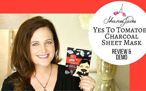 Yes To Tomatoes Charcoal Paper Mask | Review & demo | ShaneeJudee