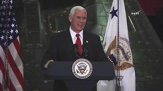 Vice President Pence speaks at Kennedy Space Center