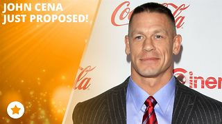John Cena just got down on one knee! - Video