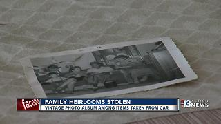 Las Vegas woman's car ransacked, sentimental family photos stolen