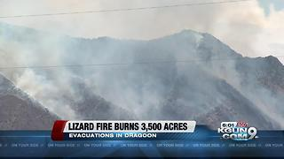 Man forced to evacuate because of Lizard Fire - Video