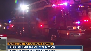 Family displaced by chimney fire