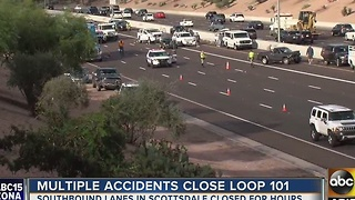 Deadkly crash closes Loop 101 in Scottsdale - Video